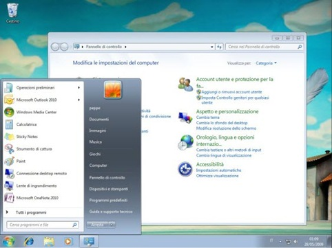 windows 7 italiano