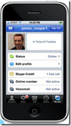 Skype 1.1. iPod e iPhone