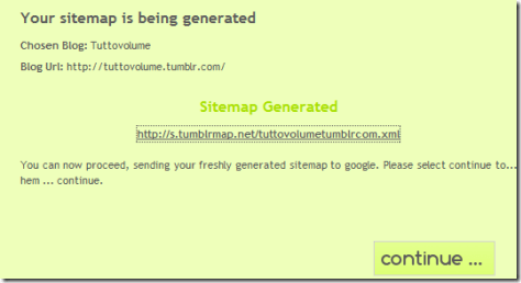 tumblrMap build sitemap