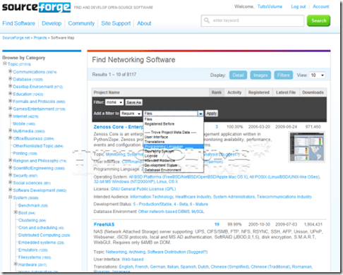 SourceForge-categorie