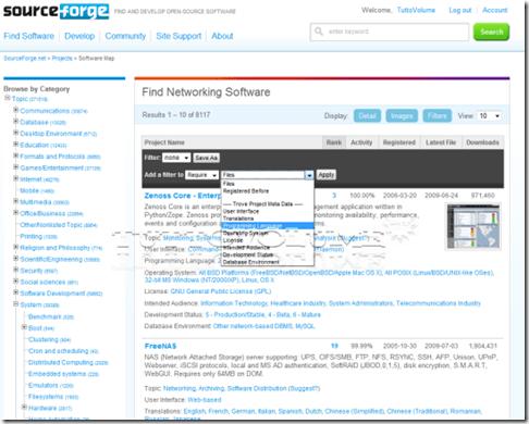 SourceForge-categorie