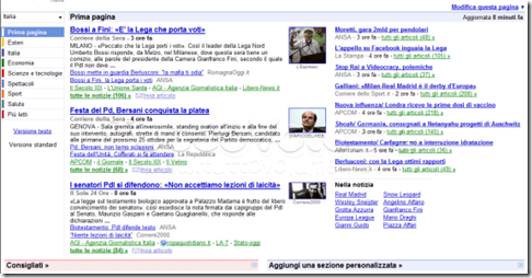 homepage google news