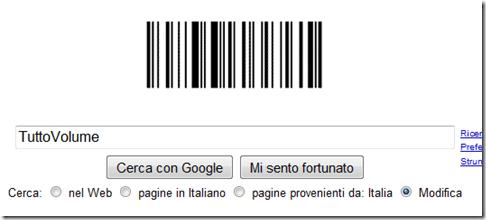 Google Doodle codice a barre