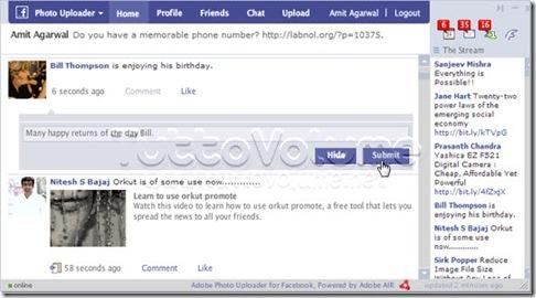 Photo Uploader client facebook