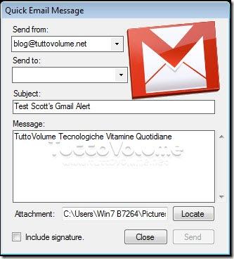 Scott's Gmail Alert Invia mail