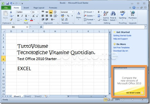 Office 2010 Starter Excel