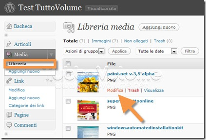 Wordpress 2.9 Modifica Immagini