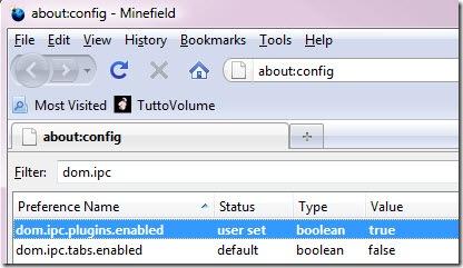 Abilitare processo separato Firefox 3.7
