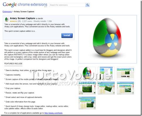 Dettagli estensioni Google Chrome