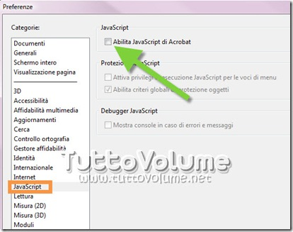 Disabilutare Javascript Adobe Reader