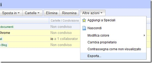 Esporta file Google Documenti