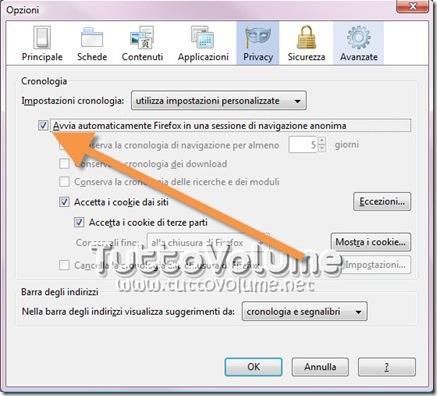 Firefox Modalità anonima