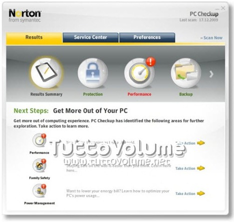 Norton PC Checkup Report e Soluzioni