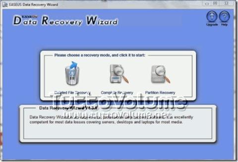 EASEUS Data Recovery Wizard-Finestra-Principale