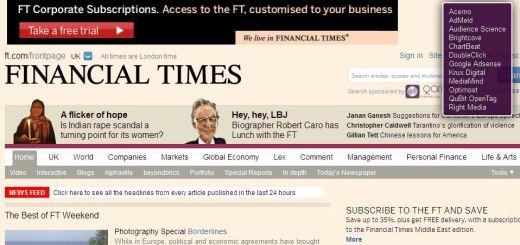 Financial Times - FT tracker websites