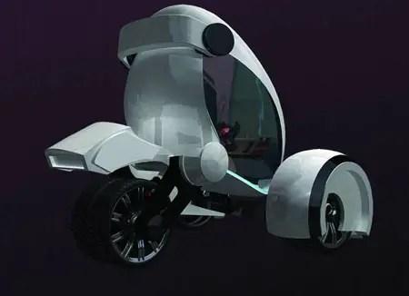 concetto di automobile futuristica di onde radio