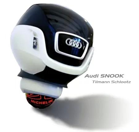 concetto di auto futuristica audi snook