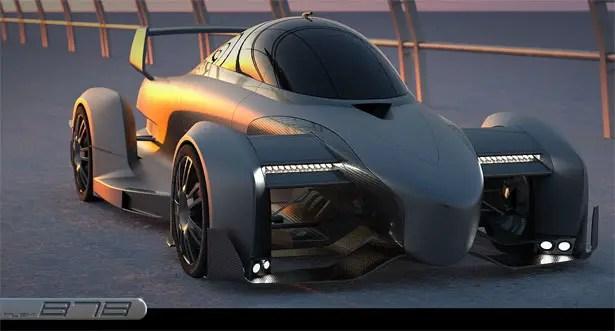 B7 سيارة سباق كهربائية سوبر بواسطة فيليب Tejszerski