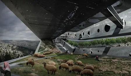 bridge design for israel and palestina