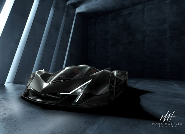سيارة Devel Sixteen III Concept Supercar بواسطة Mark Hostler