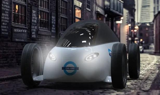 """جميع مقترحات السيارات ذات المفهوم الكهربائي لنظام """"باركليز لتأجير الدراجات"""" من تأليف جيمس لانجتون"""
