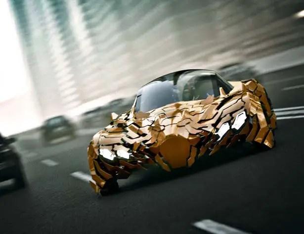 Flake Futuristic Concept Car by Da Feng