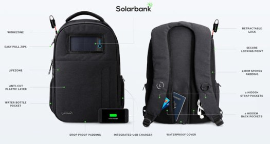Lifepack Solar Powered and Anti-theft Backpack by Solgaard