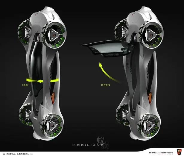 Roewe Mobiliant Single-Seat Vehicle from SAIC Motors