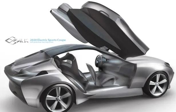 سيارة رياضية كهربائية من مرسيدس بنز SILK كوبيه مع نظام تحذير المشاة من Hyoungsoo Kim