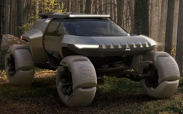 سيارة جيب سبايدر للطرق الوعرة مع طائرة بدون طيار من واين جونغ