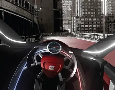 viu futuristic car