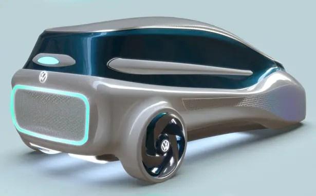 Concept car Volkswagen ID5 2050 di Miguel Mojica