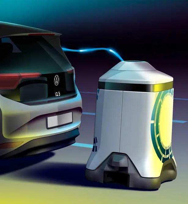 روبوتات شحن فولكس فاجن موبايل المستقبلية