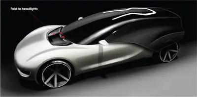 futuristica concept car volkswagen viseo