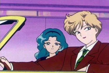 Haruka and Michiru, driving home