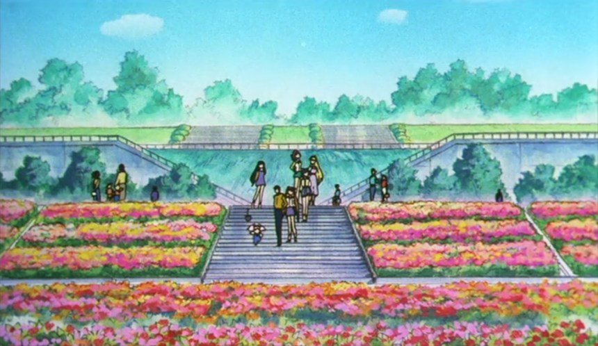 Flower Garden in the Sailor Moon R Movie