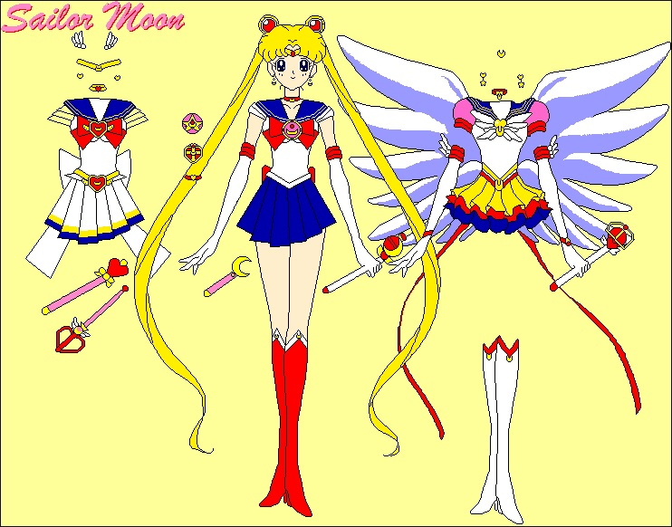 My First KiSS – Playing Dress Up With Digital Sailor Moon Dolls