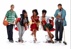 The Cast of 'da Kink in my Hair (l to r) Daniel Gordon, Trey Anthony, Ordena Stevens-Thompson, Ngozi Paul, Eli Goree