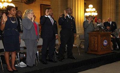13 members of Cleveland's new court-mandated Cleveland Police Commission sworn-in