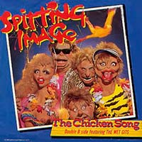 Spitting Image The Chicken Song Official Single Cover
