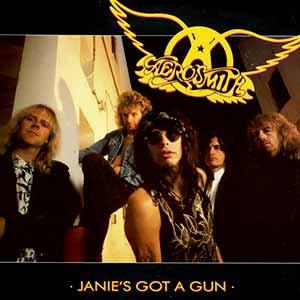 Aerosmith Janie's Got A Gun Single Cover