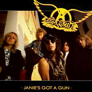 Aerosmith Janie's Got A Gun Single Cover