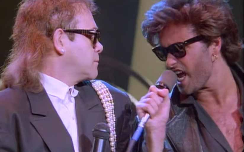 Elton John George Michael Wrap Her Up Music Video