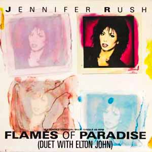 Jennifer Rush Elton John Flames Of Paradise Single Cover