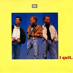 Bros - I Quit - Single Cover - Matt Goss