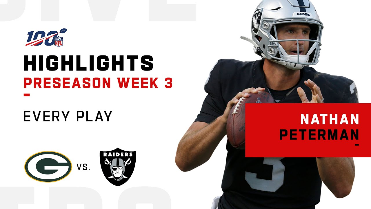 NFL 2019 Highlights - Every Nathan Peterman Play vs. Packers