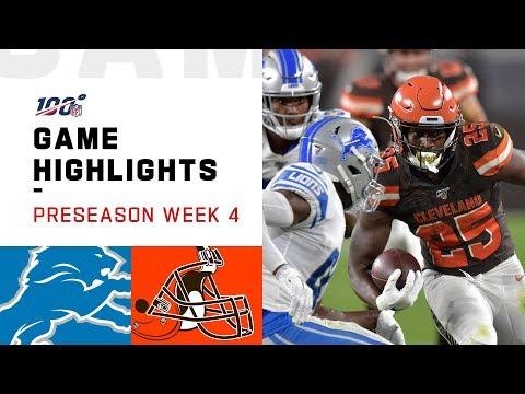 NFL 2019 Week 4 Highlights Lions vs. Browns Preseason