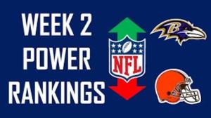 NFL Week 2 Power Rankings Show