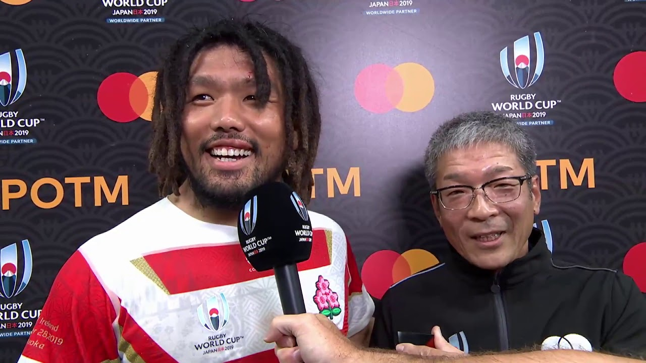 Shota Horie wins Mastercard Player of the Match against Ireland