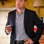 """""""Answers"""" - Pictured: Chris O'Donnell (Special Agent G. Callen). While the team investigates the theft of a computer virus, Callen and Sam consider their future at the agency, Kensi and Deeks discuss having children, and Eric and Nell analyze the impact of Eric's undercover assignment on their relationship. Also, the team tracks Mara (Arielle Vandenberg), a crooked upscale banker, on NCIS: LOS ANGELES, Sunday, Dec. 8 (9:30-10:30 PM, ET/9:00-10:00 PM, PT) on the CBS Television Network. Photo: Cliff Lipson/CBS ©2019 CBS Broadcasting, Inc. All Rights Reserved."""